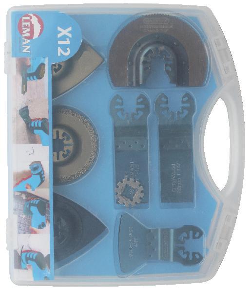 Plateau de ponçage multi-matériaux coffret 12 accessoires