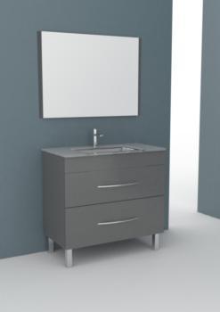 Meuble salle de bain CITY 90 gris