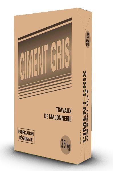 Ciment gris CEM II/B-LL 32,5 R CE sac 25kg