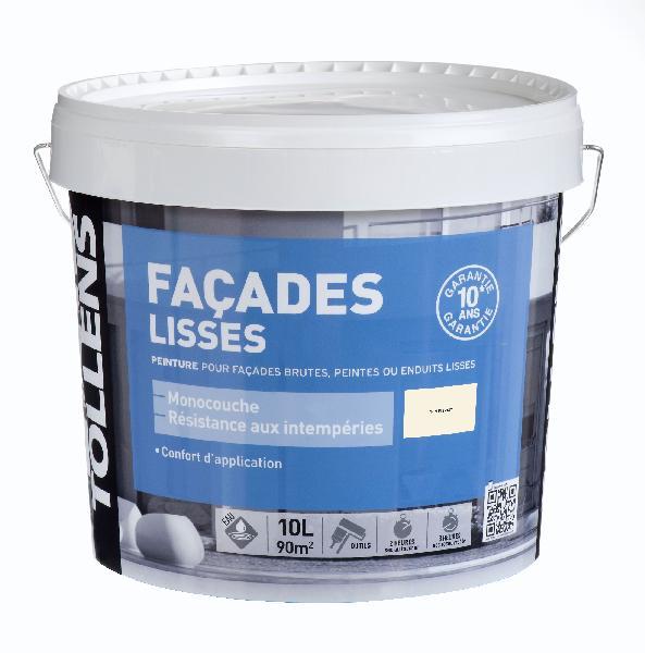 Peinture lisse façade acrylique ton pierre 10L