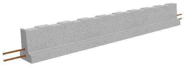 Poutrelle béton précontraint RSE134S sans étai 4,10m