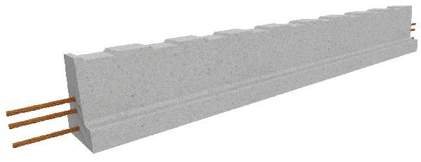 Poutrelle béton précontraint RS138 6,60m