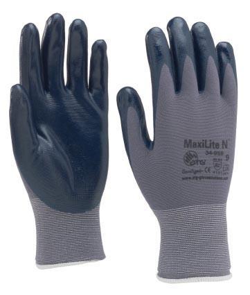 Gant nylon enduit nitrile MAXILITE N 34-958 T.10 sur cavalier