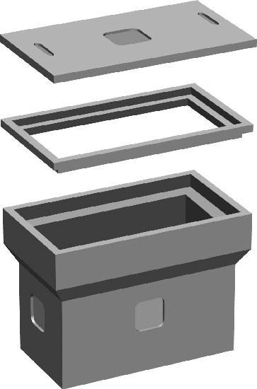 Corps de chambre béton L0T avec fond