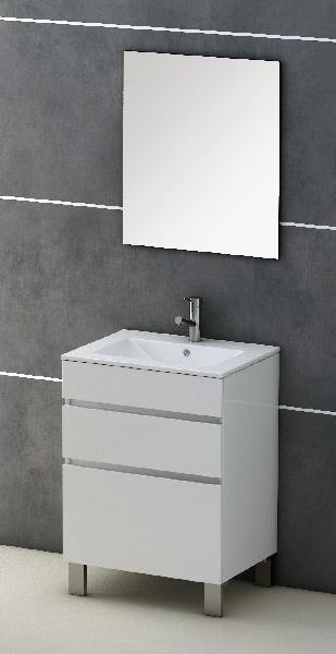 Meuble salle de bain MOON 2 tiroirs blanc 80x72x45cm