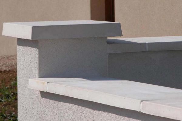 Chapeau de pilier plat 40x40cm Ep.6cm gris