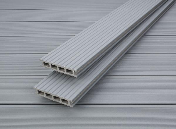 Lame Terrasse Profi Deck Bois Composite Gris Perle 28x150mm 4m
