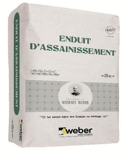 Mortier ENDUIT D'ASSAINISSEMENT sac 25kg