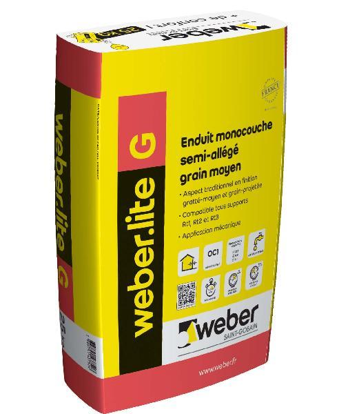 ENDUIT WEBER.LITE G 34-001 BLANC CASSE 25KG