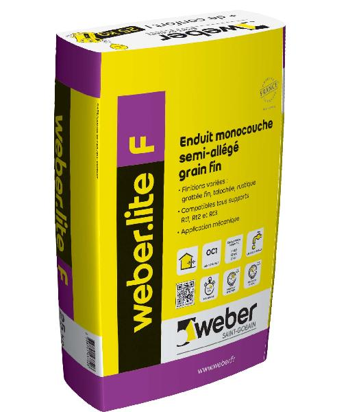 ENDUIT WEBER.LITE F 36-013 BRUN FONCE 25KG