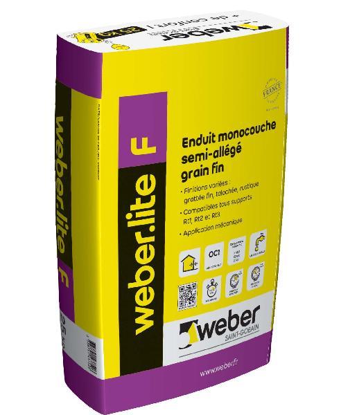 ENDUIT WEBER.LITE F 36-091 GRIS PERLE 25KG