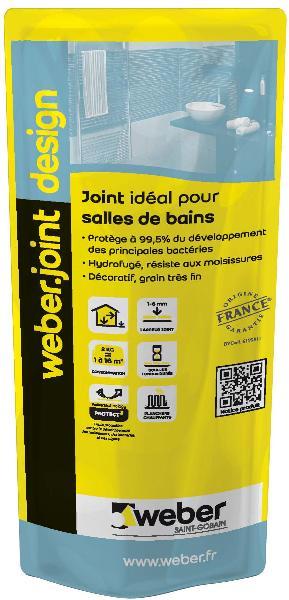 Mortier joint weber joint design moka sac 2kg for Weber cal joint prix