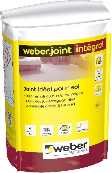 Mortier joint weber joint integral gris acier sac 5kg for Weber cal joint prix