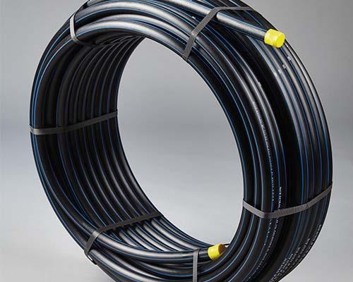 Tube PE100 bande bleue Ø063x5,8 SDR11 PN16 50m NF