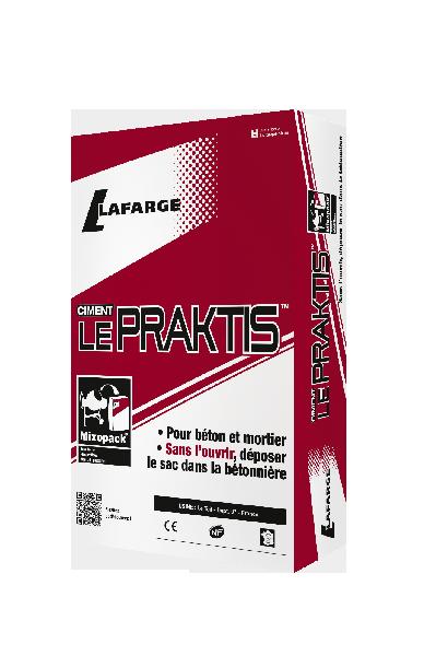 Ciment LE PRAKTIS gris CEM II/B-LL 32,5 R CE+NF sac 35kg