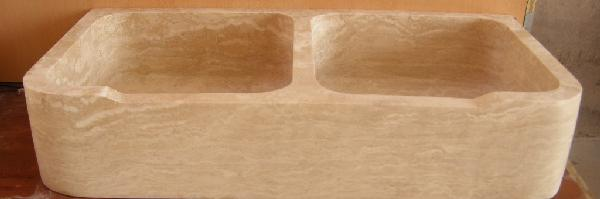 Evier 2 bacs medium 60x120cm H.15cm