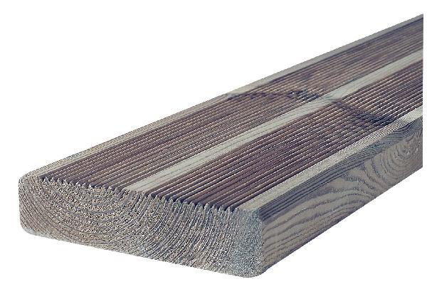 lame terrasse pin classe 4 brun 1 face stri e 27x145 3 60m. Black Bedroom Furniture Sets. Home Design Ideas