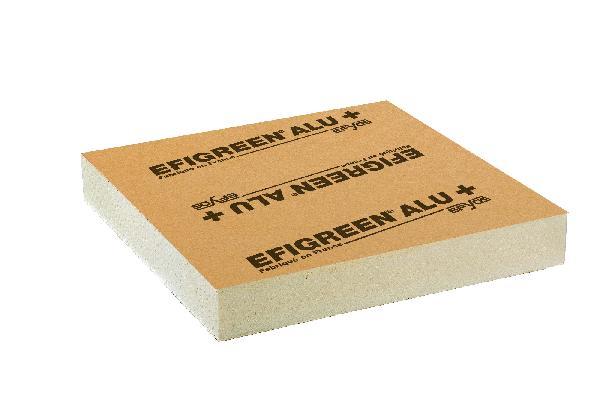 Polyuréthane EFIGREEN ALU+ bord droit 120mm 60x60cm par 8 R=5,45
