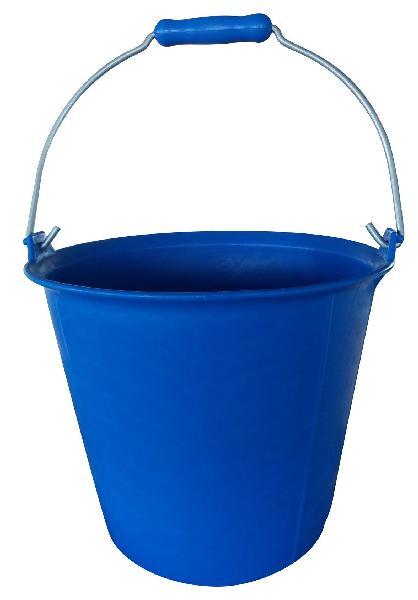 Seau renforcé avec poignée bleu 13L