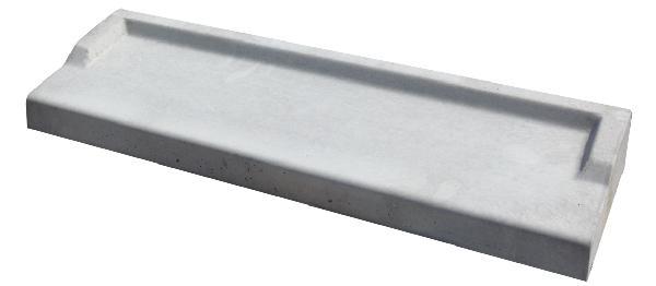 Appui de fenêtre gris 130x39x10cm