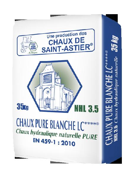 Chaux hydraulique naturelle pure blanche LC**** NHL 3.5 sac 35kg