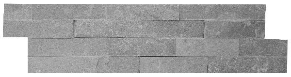 Parement quartzite sur résine NONZA 15x55/60cm Ep.10-20mm gris clair