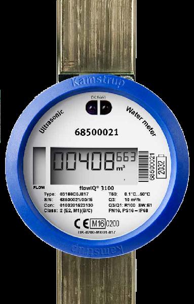COMPTEUR FLOWIQ3100 DN25 260MM R100 6,3M3/H LAITON RADIO INTEGREE