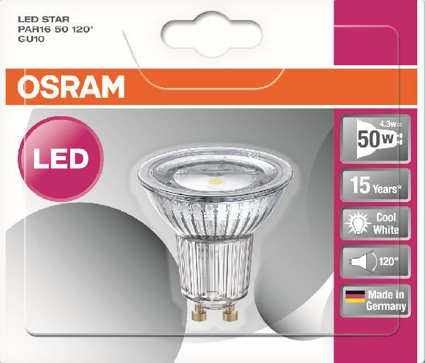 SPOT LED 3,6W=50 120D GU10 FRD