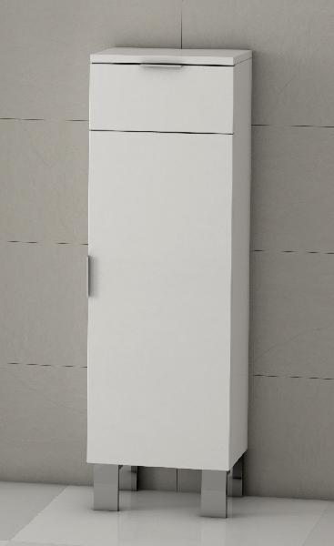 Colonne basse GALSAKY 1 porte et 1 tiroir blanc 35x100x32cm