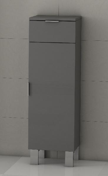 Colonne basse GALSAKY 1 porte et 1 tiroir gris 35x100x32cm