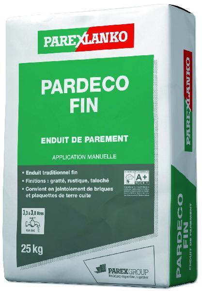 Enduit PARDECO fin O50 25Kg