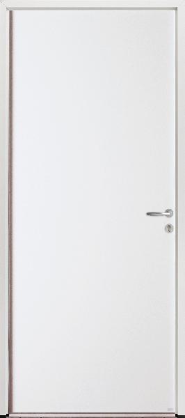 Porte de service acier blanche PSA1 200x90 DP dormant alu 54 5pts