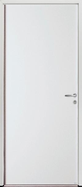 Porte de service acier blanche PSA1 215x80 DP dormant alu 54