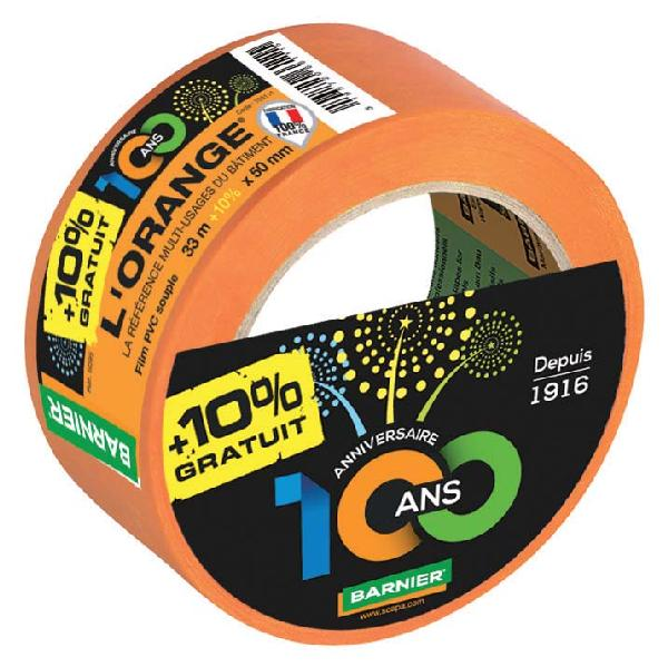 Adhésif bâtiment multi-usages PVC L'ORANGE 6095 50x33m +10%