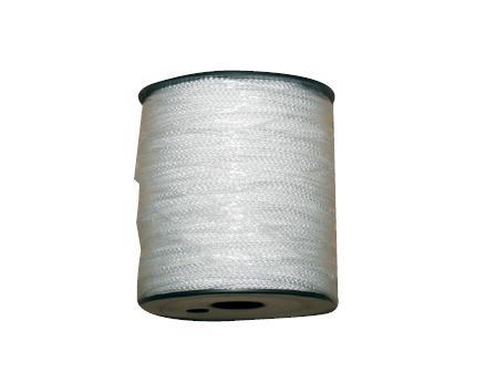 Cordeau tressé blanc PP 100mx1.5mm