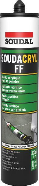 Mastic SOUDACRYL FF acrylique blanc cartouche 300ml