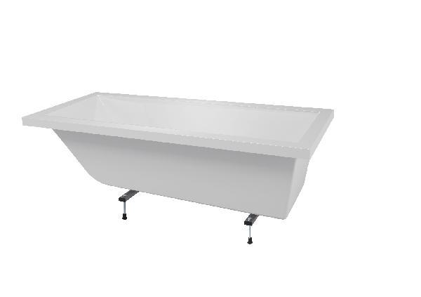 Baignoire rectangulaire CALOS blanc 170x75cm