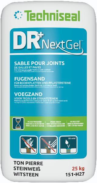 Sable joint pour dalles et pavés DR+ NEXTGEL ton pierre sac 25kg