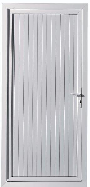 Porte de service PVC blanche 200x80 GP dormant 70