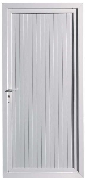 Porte de service PVC blanche 200x90 DP dormant 70