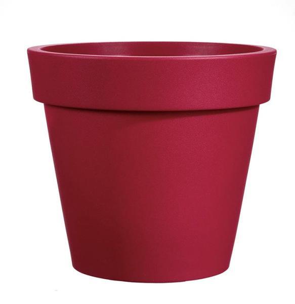 Pot EASY rouge Ø130cm polyéthylène H.120cm