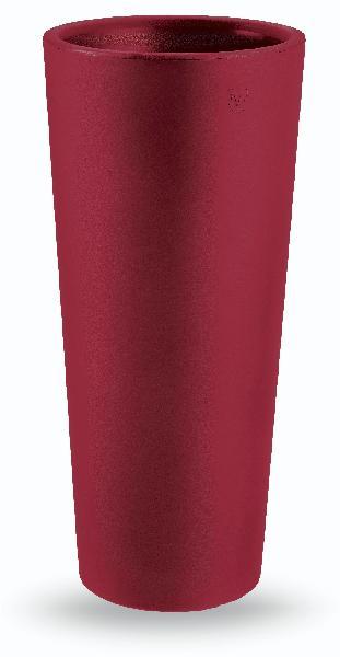 Cache pot rond GENESIS ALTO rouge orient Ø65cm polyéthylène H.150cm