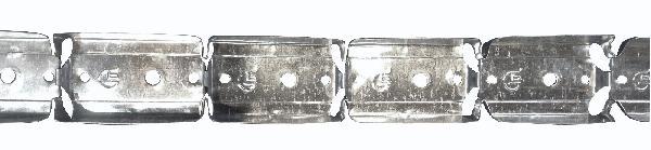 Rail courbe métal perforé 32x50mmx20,00m