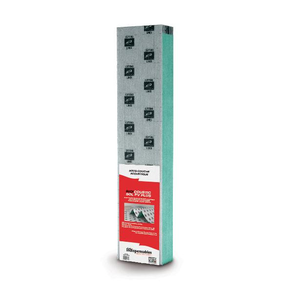 Sous couche INDICOUSTIC PV PLUS Ep.3x8500x1180mm plaque 10m2