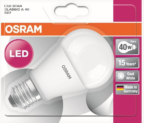 Ampoule led STAR CLASSIC A 5W E27