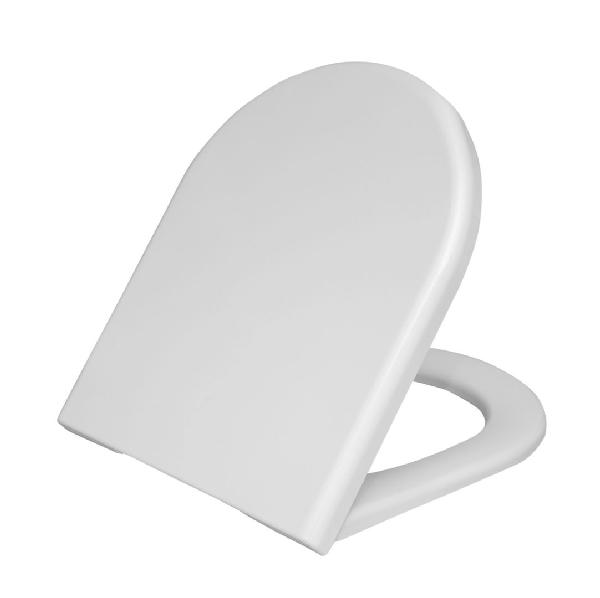 Abattant WC duroplast S50 Blanc avec système frein de chute NF