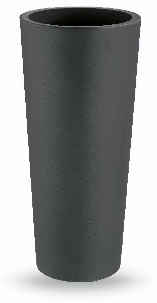 Cache pot rond GENESIS anthracite Ø45cm polyéthylène H.100cm