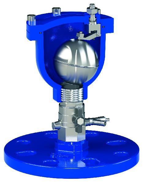 Ventouse VTL DN60-65 PFA 16bar avec robinet ISO PN10-16