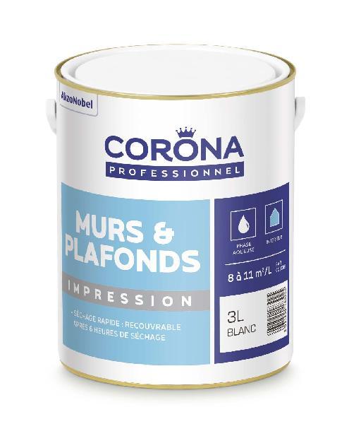 Peinture mat CORONA blanc 3L