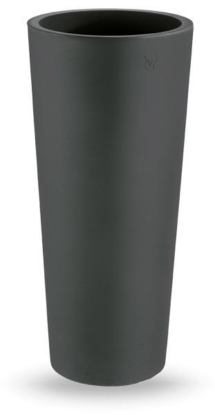 Cache pot rond GENESIS ALTO anthracite polyéthylène H.150cm